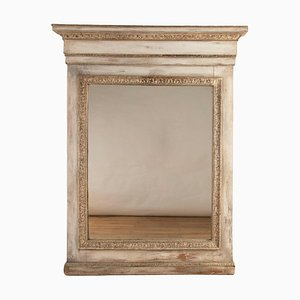 Large Italian Painted Mirror, 19th Century