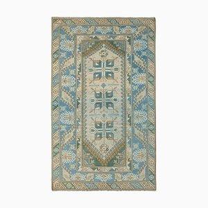 Vintage Turkish Distressed Blue Rug