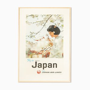 Fly to Japan Poster, 1960er