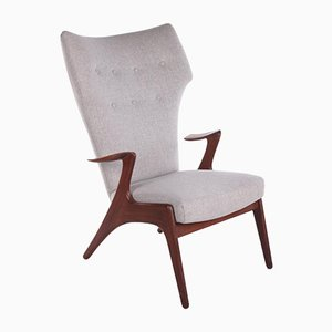 Danish Wing Chair in Teak by Kurt Østervig for Glostrup, 1950s