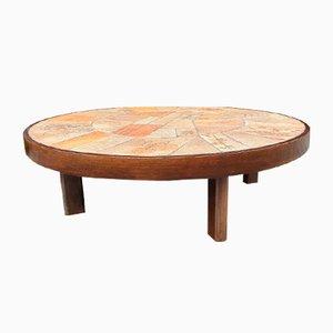 Oak Coffee Table by Roger Capron