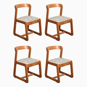 Italian Wooden Dining Chairs by Mario Sabot, 1970s, Set of 4