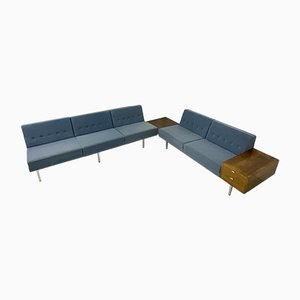 Modulares Sofa System mit Schubladen Kommode & Tisch aus Rio Palisander von George Nelson für Herman Miller, 1955