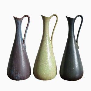 Scandinavian Vases by Gunnar Nylund for Rörstrand, 1950s, Set of 3