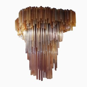 Large Cascading Rod Chandelier from Salviati, 1960s
