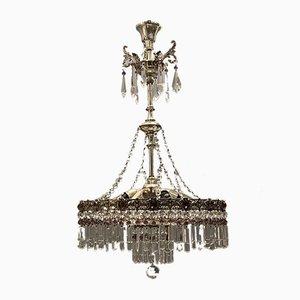 Böhmischer Vintage Kronleuchter aus Bleikristallglas