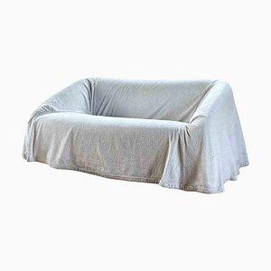 Weißes 2-Sitzer Mantilla Sofa aus Samt von Kazuhide Takahama für Studio Simon, 1973