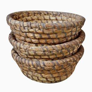 Vintage Baker's Bread Baskets, Set of 3