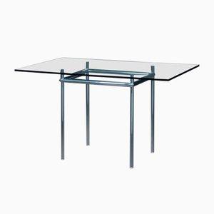 Tavolo da pranzo LC12 con ripiano in vetro di Le Corbusier per Cassina