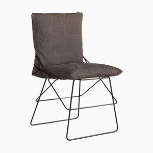 Sof Sof Metal Chair Gray by Enzo Mari for Driade