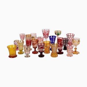 Bicchieri incisi, set di 20