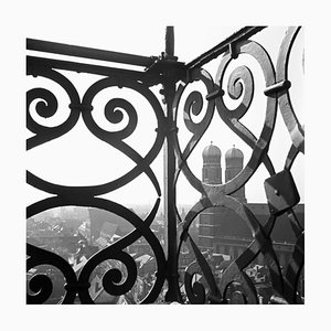 View to Munich Frauenkirche Church with Railing, Germany, 1938