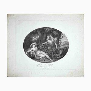 Francesco Cecchini, Jupiter und Antiope, Radierung, 19. Jh
