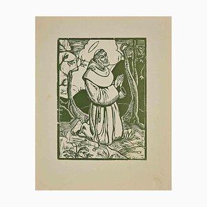 Giorgio Wenter Marini, Saint Francis, Woodcut, 1925