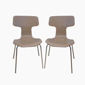 Vintage Modell 3103 Esszimmerstühle von Arne Jacobsen für Fritz Hansen, 2er Set