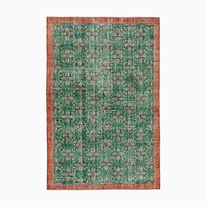 Grüner türkischer Vintage Area Teppich