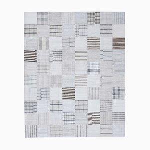 White Kilim Patchwork Rug