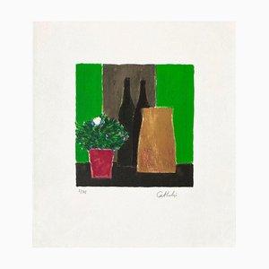 Green and Black Still Life at Gardenia by Bernard Cathelin, 1995