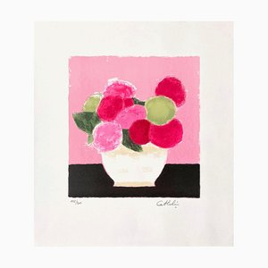 Hortensia at the Pink Background di Bernard Cathelin, 1990