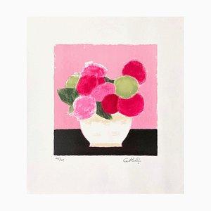 Hortensia au Fond Rose par Bernard Cathelin, 1990