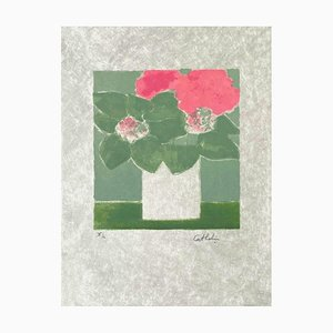 Hortensias by Bernard Cathelin, 1991
