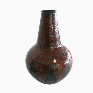 Jarrón alemán de cerámica Lava de Dümler & Breiden, años 70