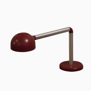 Lámpara de mesa roja de Robert Haussmann para Swiss Lamps International, 1965