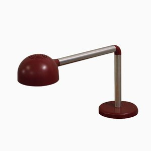 Lampe de Bureau Rouge par Robert Haussmann pour Swiss Lamps International, 1965