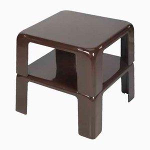 Brauner Gatti Tisch von Mario Bellini für C & b Italia, 2er Set
