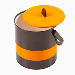 Orange / Brown Ice Bucket by Andrée Putman