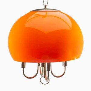 Vintage Vintage Kugellampe in Orange
