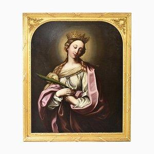 Religiöses Gemälde, Saint Catherine, 1600s, Öl auf Leinwand