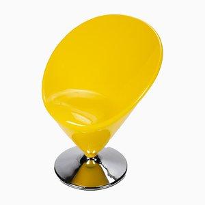 Gelber Space Age Eiskegel Stuhl
