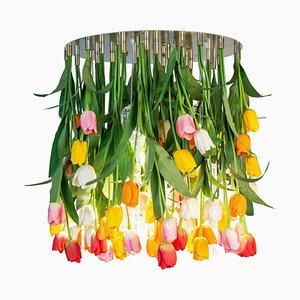 Großer runder Flower Power Maxi Tulip Kronleuchter von Vgnewtrend, Italien