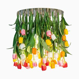 Large Flower Power Maxi Tulip Round Chandelier from Vgnewtrend, Italy