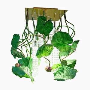 Flower Power Lotus Dichondra Square Chandelier from Vgnewtrend, Italy