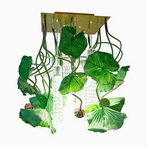 Flower Power Lotus Dichondra Square Kronleuchter von Vgnewtrend, Italien