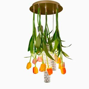 Small Flower Power Tulip Round Chandelier from Vgnewtrend, Italy