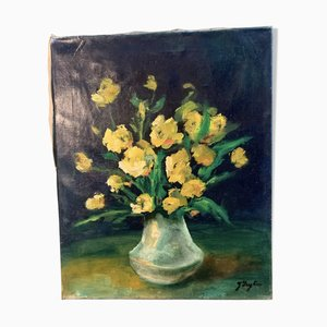 Painting Bouquet, Yetty Leytens, Oil on Canvas