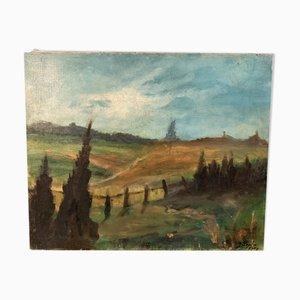 Pintura de paisaje rural de Yetty Leytens