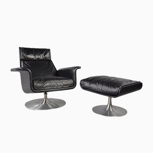 Siesta 62 Lounge Chair & Ottoman by Jacques Brule for Hans Kaufeld, Set of 2