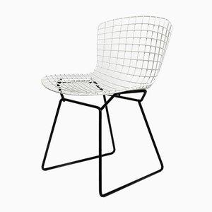 Chaise en Métal Noir et Blanc par Harry Bertoia pour Knoll Inc. ou Knoll International, 1970s