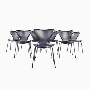 Series-7 Butterfly Chairs by Arne Jacobsen for Fritz Hansen, Set of 8
