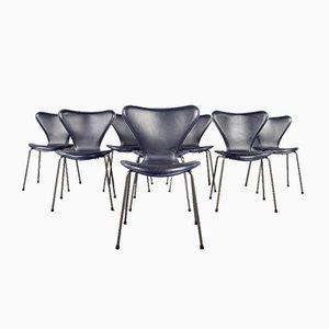 Series-7 Butterfly Chairs von Arne Jacobsen für Fritz Hansen, 8er Set