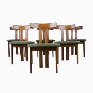 Dänische Esszimmerstühle mit T-förmigen Rückenlehnen, 6er Set