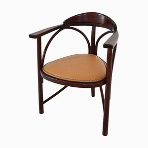 Vintage No. 81 Rondo Bentwood and Leather Armchair, Hungary
