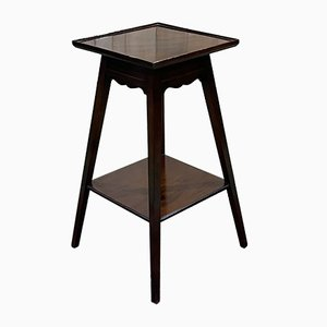 English Mahogany Side Table, 1950s