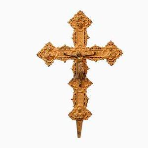 19th Century Italian Bronze Crucifix