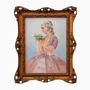 20th Century Gilted Frame Modern Pastel Painting by Tito Corbella