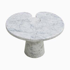 Italienischer Eros Carrara Marmor Beistelltisch von Angelo Mangiarotti für Skipper